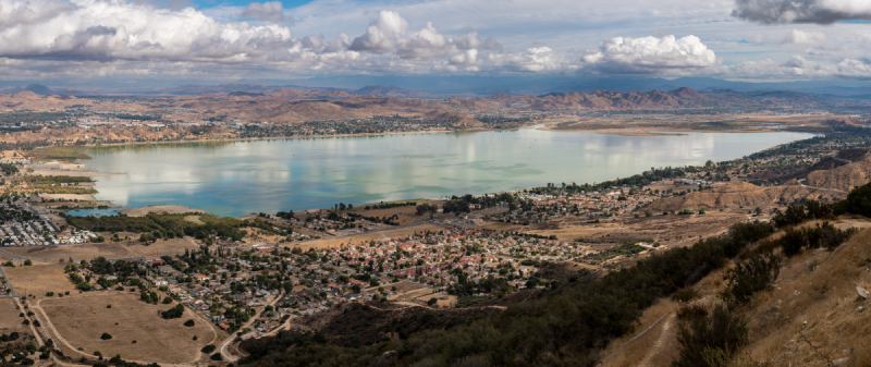 Panoramic view of Lake Elsinore